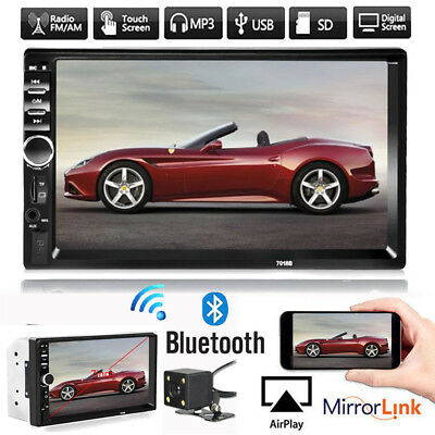 "7"" 2Din Car Stereo TouchScreen Radio USB/FM/SD/MP5/MP3 Player Bluetooth +Camera"