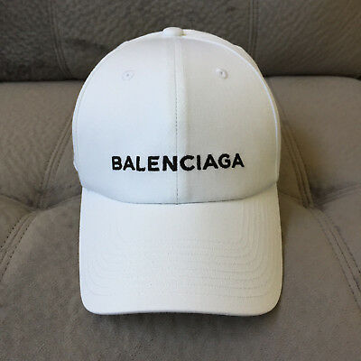 Custom Made New Unisex One Size Adjustable Balenciaga Baseball Cap in White