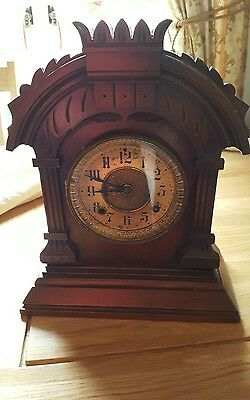 Antique American Ansonia 8 Day Tunis Striking Clock**COLLECT FROM BEDFORDSHIRE