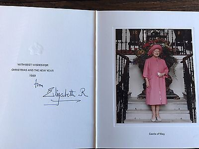 Queen Elizabeth, The Queen Mother, Hand Signed Christmas Card