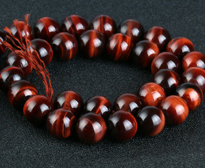 Natural Gemstone Round Red Tiger Spacer Loose Beads 4 6 8 10 12mm Stones E030