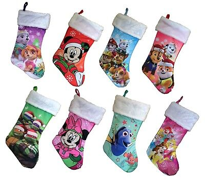 Kids Character Stockings Girls Boys Childrens Christmas Stocking NEW