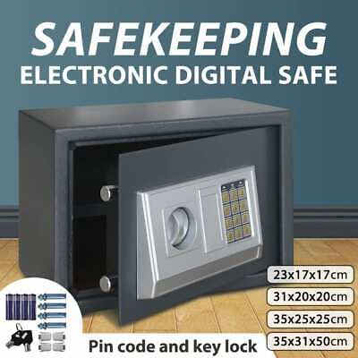 vidaXL Security Home/Office Electronic Digital Safe Box Key Cash Lock Multi Size