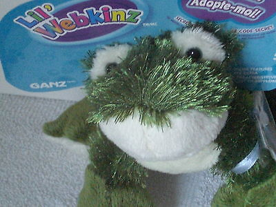 New Ganz Lil' Webkinz Adopt Me Frog HS001 With Unused Sealed Code Ages 5+