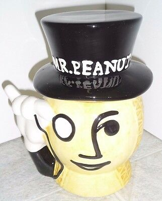 Mr Peaunut Planter's Promo Novelty Collectible Peanut Container Candy Cookie Jar