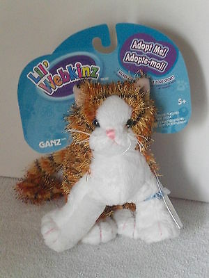 New Ganz Lil' Webkinz Adopt Me Alley Cat HS042 With Unused Sealed Code Ages 5+