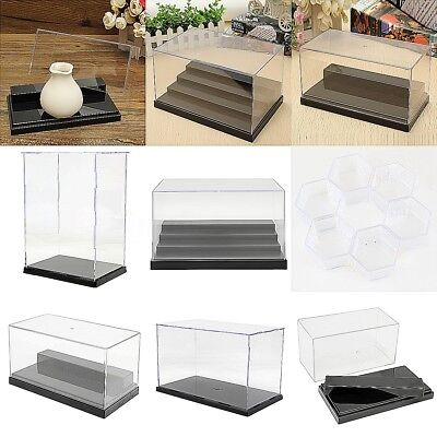 6 Size Clear Plastic Acrylic Display Show Box Case Toy Dustproof Tray Protection