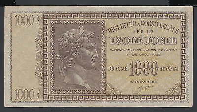 Greece 1000 Drachmai 1941 VF P. M 17,  Banknote, Circulated