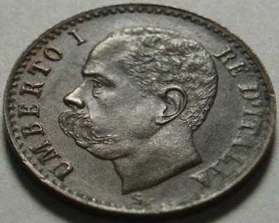 1900 ITALY The LAST One CENTESIMO Struck For KING UMBERTO I Assassinated in JULY