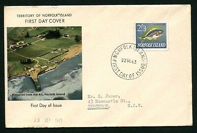 Norfolk Island  Pre Decimal First Day Covers - 2 X 1963 1X1964