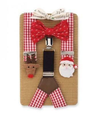 Boy's Suspenders & Bow Set: Mud Pie Christmas Bowtie Suspender Set