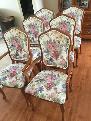 6 Floral Dining Room Chairs