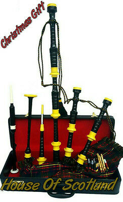 Great Highland Bagpipes Rosewood Silver Mounts/Scottish Bagpipes Yellow Mounts