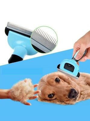 Pet Deshedding Tool for Dogs and Cat Brush for Small, Medium & Large Dogs / Cats