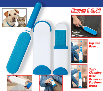 Hurricane Fur Wizard As Pet Hair & Lint Remover Clear Clothes Fabric Brush