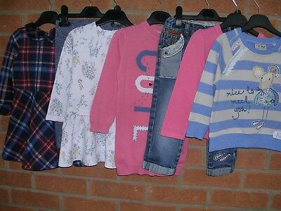 ALL NEXT Girls Pink Bundle Dresses Jeans Tops Jumpers Age 18-24m