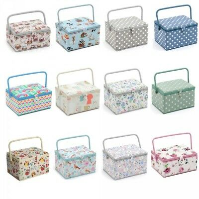 Large Rectangular Knitting And Sewing Basket Craft Sewing Box