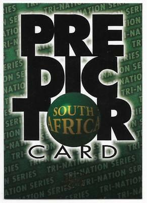 1996 Futera Rugby Union PREDICTOR (PC2) South Africa Sample