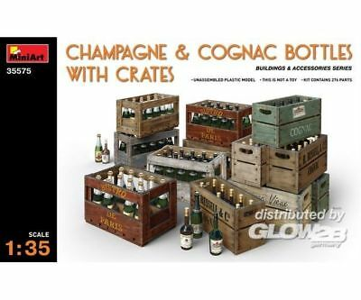 MiniArt 35575 Champagne amp; Cognac Bottles wCrates in 1:35
