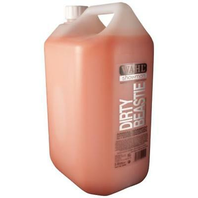 WAHL SHOWMAN DIRTY BEASTIE SHAMPOO 5L 5 Litre Concentrated 32:1 5ltr Horse Dog
