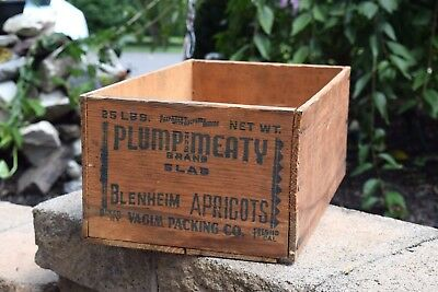Vintage California Apricot Fruit Wooden Crate