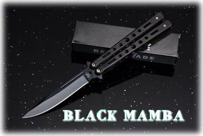 Coltello Butterfly Black Mamba Balisong Ultra Affilato Edc Benchmade Collection