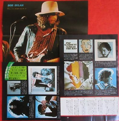 Bob Dylan Eric Clapton Pin Up & 4Page Clipping 1977 Japan Magazine H9 E8