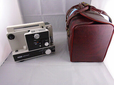 Eumig 610D Dual 8 Silent Projector in Leather Case with Accessories