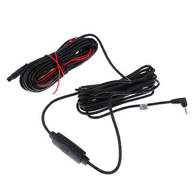 Car Rear View Reverse Camera Recorder 5Pin to 2.5mm Cable & Amplifier 10M
