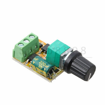 Mini DC Motor PWM Speed Controller 3V-35V Speed Control Switch LED Dimmer 5A