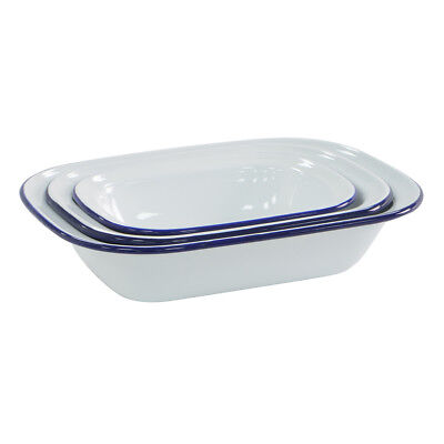 ProCook Traditional Enamel Bakeware Pie Dish Quality Chip Resistant 3 Piece Set