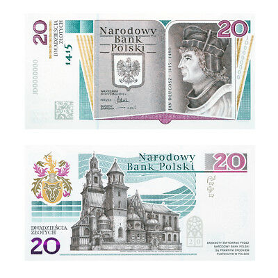 ✦✦✦ Banknote 600th anniversary of the birth of Jan Dlugosz number JD0002000 ✦✦✦