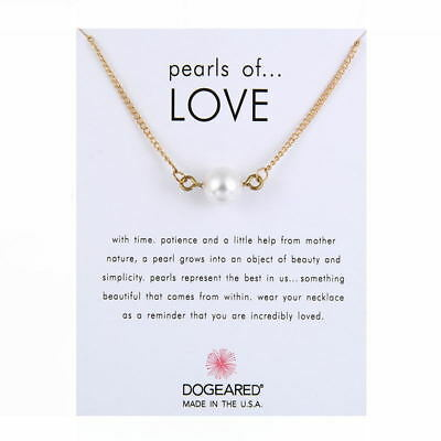 Necklace Pearl Collarbone Choker Bead Pendant Romantic Elegent Charm Gift