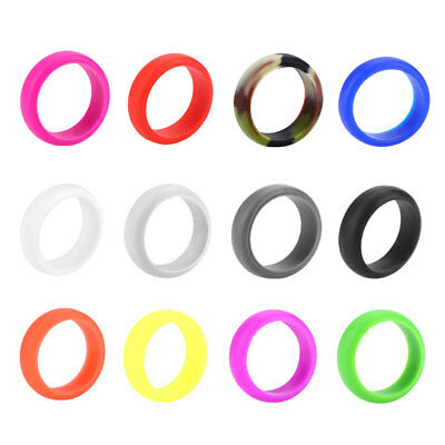 Silicone Rings Women Rubber Band Comfortable Elegant Flexible 12 Colors