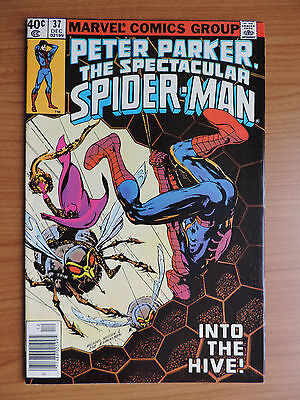 Peter Parker The Spectacular Spider-Man # 37 Vf- (7.5) Cents Swarm