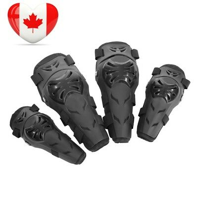 Qiilu 4Pcs Motorcycle Motocross Cycling Elbow Knee Pads Protector Guard...