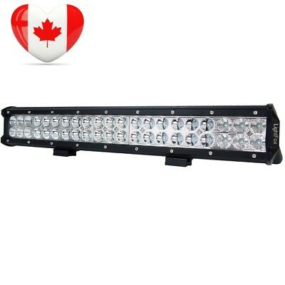 Lightfox 20inch 126w CREE LED Light Bar Spot Flood Combo Work Driving Fog...