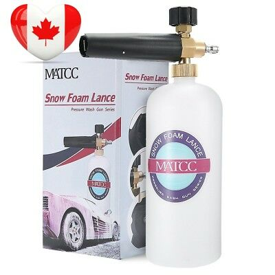 MATCC Snow Foam Cannon Adjustable Pressure Washer Wash Gun 1L Bottle Car...