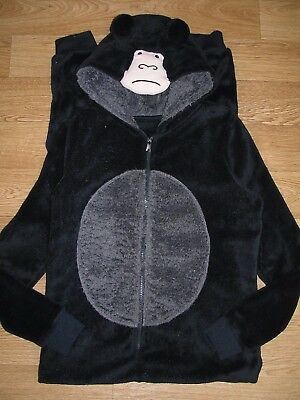 Grumpy GORILLA Black Boys All-in-One Sleepsuit Fleece Pyjamas Age 12-13