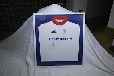 Chris Hoy's signed and framed competition jersey from the 2008 Beijing Olympics