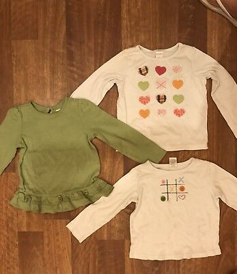 GYMBOREE Girls Tops Shirts Long Sleeve Size 5 LOT OF 3 Fall Colors