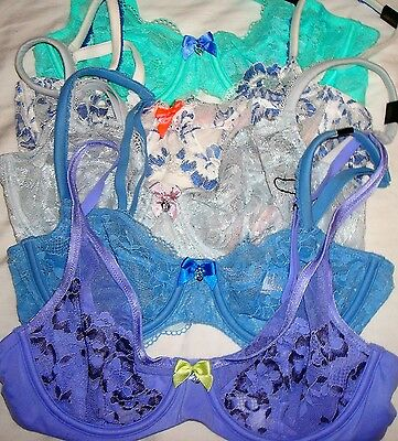NWT ~ Victoria's Secret VS Wholesale Lot of 5 ~ 34B Bras Mixed Styles Colors