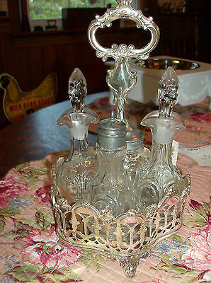 Beautiful antique silverplated castor set