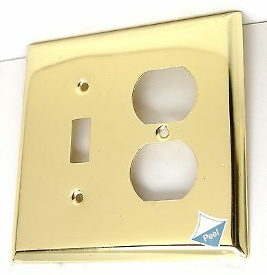 Brainerd Polished Brass Single Toggle Light Switch Duplex Outlet Plate Cover