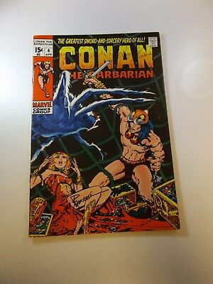 Conan The Barbarian #4 signed by Roy Thomas & Sal Buscema FN/VF condition
