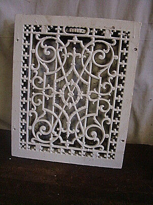 Antique Late 1800's Cast Iron Heating Grate Unique Ornate Design 16.75 X 13.75 E