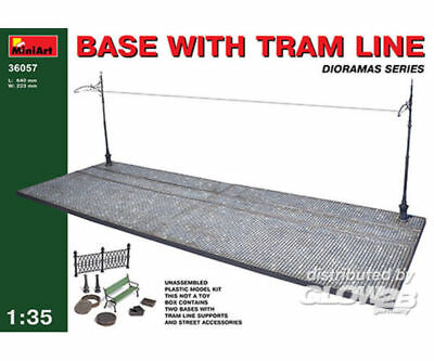 MiniArt 36057 Base with Tram Line in 1:35
