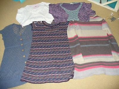 White Stuff Bundle 5 (3 Knits/dresses/t-Shirt/tunic) Size 12/14