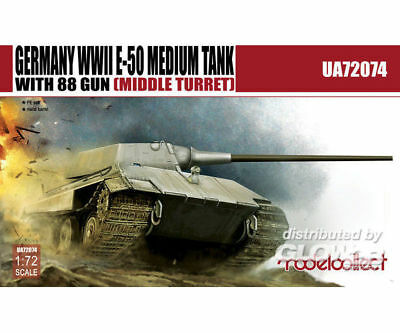 Modelcollect UA72074 Germany WWII E-50 Medium Tank with 88gun (middle turret) in