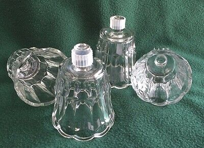HOMCO Home Interior Votive Sconce Candle Cups Peg Holder Cl Glass Tulip Starlite